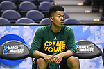 MILWAUKEE, WI - MARCH 16:  Vermont Catamounts guard Trae Bell-Haynes (2) looks on from the bench during the first half of the 2017 NCAA Men's Basketball Tournament held at BMO Harris Bradley Center on March 16, 2017 in Milwaukee, Wisconsin. (Photo by Jamie Schwaberow/NCAA Photos via Getty Images)