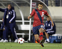 Timothy Chandler(21) of the USA MNT makes a pass during an international friendly match against Paraguay at LP Field, in Nashville, TN. on March 29, 2011.Paraguay won 1-0.