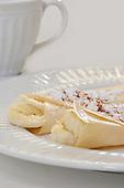 Royalty Free stock photo of crepes with banana sugar and nutmeg