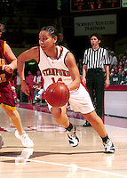 STANFORD, CA - MARCH 11: Yvonne Gbalazeh of the Stanford Cardinal during Stanford's 91-67 win over the Arizona State Sun Devils on March 11, 2000 at Maples Pavilion in Stanford, California.