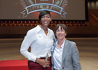 Stanford CA - October 4, 2013 Stanford Athletics Hall of Fame Induction Ceremony at Bing Concert Hall at Stanford University.