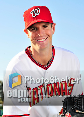 28 February 2010: Washington Nationals relief pitcher Doug Slaten poses for his Spring Training photo at Space Coast Stadium in Viera, Florida. Mandatory Credit: Ed Wolfstein Photo
