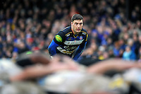 Matt Banahan of Bath Rugby watches a scrum. Aviva Premiership match, between Bath Rugby and Wasps on February 20, 2016 at the Recreation Ground in Bath, England. Photo by: Patrick Khachfe / Onside Images