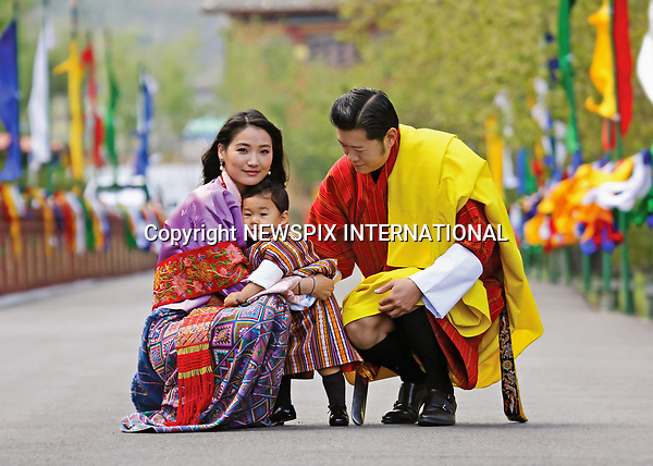 01.05.2017; Thimpu, Bhutan: PRINCE JIGME WITH HIS PARENTS KING WANGCHUCK AND QUEEN JETSUN PEMA<br />