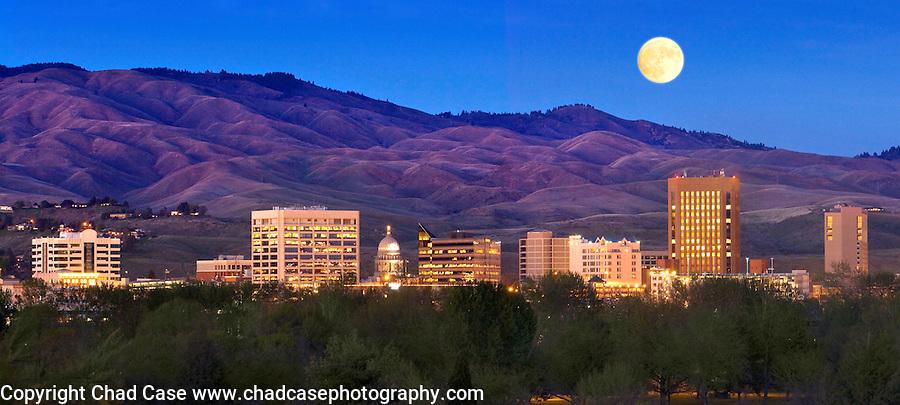 Full Moon Idaho Full Moon Over Foothills