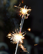 sparkler at a Fourth of July celebration