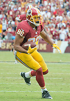 Washington Redskins tight end Jordan Reed (86) carries the ball after making a catch late in the fourth quarter against the Dallas Cowboys at FedEx Field in Landover, Maryland on Sunday, September 18, 2016.  The Cowboys won the game 27 - 23.<br /> Credit: Ron Sachs / CNP /MediaPunch
