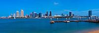 Skyline, San Diego from Coronado Island, Ferry Landing,  Panorama