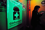 """A customer walks past a poster advertising the AIDS test offered free-of-charge by a doctor of an HIV awareness group at a bar in Tokyo, Japan. Gynaecologist Dr Tsuneo Akaeda, who visits the Tokyo bar as part of the Girl's Guard volunteer group, says the number of HIV infection rates surged in 2008 to about 5,000 compared with 1,500 a year earlier. """"The figure is probably much higher because there are people who probably have it but are too scared to be diagnosed,"""" Akaeda says. """"Awareness in Japan is on the 'it couldn't happen to me' level,"""" says a customer who undertook the test offered by Akaeda at the Club Jamaica bar in Tokyo's notorious Roppongi entertainment district."""