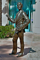 Johnny Carson, Performer, Academy of Television Arts & Sciences, Celebrity, Bronze, Sculptures, Sculptural Works, Public Art, Display, North Hollywood, CA
