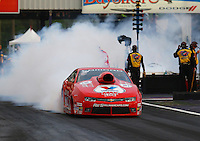 Apr 24, 2015; Baytown, TX, USA; NHRA  pro stock driver Drew Skillman during qualifying for the Spring Nationals at Royal Purple Raceway. Mandatory Credit: Mark J. Rebilas-