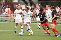 SAN ANTONIO, TX - SEPTEMBER 18, 2011: The University of Texas at El Paso Miners vs. The University of Texas at San Antonio Roadrunners Women's Soccer at Roadrunner Field. (Photo by Jeff Huehn)
