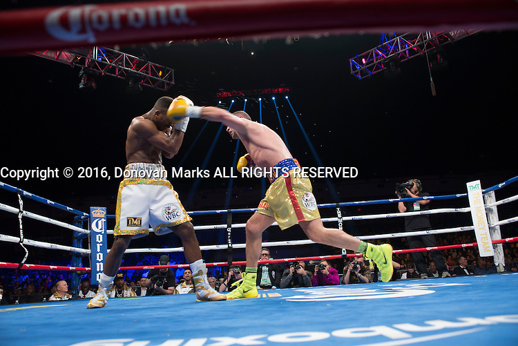 Romainian-born Canadian prizefighter Lucian Bute challenges world super middleweight champion Badou &quot;the Ripper&quot; Jack in Washington DC, April 30, 2016.<br /> <br /> <br /> PHOTO : Donovan Marks - Agence Quebec presse