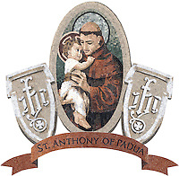 Custom church and school emblems - St. Anthony of Padua school<br />