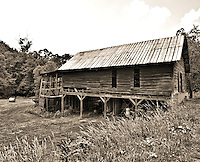 "While staying at the Grove Park Inn, we took a mystery ride through some of the small towns near Asheville, we hit a ""honey hole"" of old barns near Burnsville, NC. Notice that I also have this shot in color. Which do you like best."
