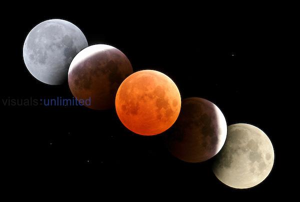 Total lunar eclipse digital composite, October 27, 2004, Alberta Canada.