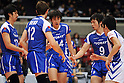 Toray Arrows team group, Yusuke Imada (Arrows), MARCH 6, 2011 - Volleyball : 2010/11 Men's V.Premier League match between Oita Miyoshi Weisse Adler 1-3 Toray Arrows at Tokyo Metropolitan Gymnasium in Tokyo, Japan. (Photo by AZUL/AFLO)