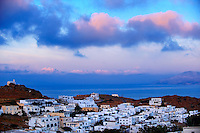 Sunrise over the Cyclades Island of Ios, Greece