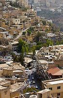 Aerial view of the city of Salt in Jordan