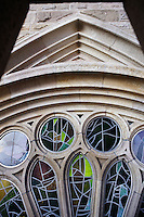 Reverse side of the Coronation of the Virgin, Charity hallway, Nativity façade, La Sagrada Familia, Roman Catholic basilica, Barcelona, Catalonia, Spain, built by Antoni Gaudí (Reus 1852 ? Barcelona 1926) from 1883 to his death. Still incomplete. Picture by Manuel Cohen