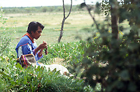 Marcos during our naming ceremony. Wixarika (Huichol) community in the Sierra Madre Occidental, Mexico