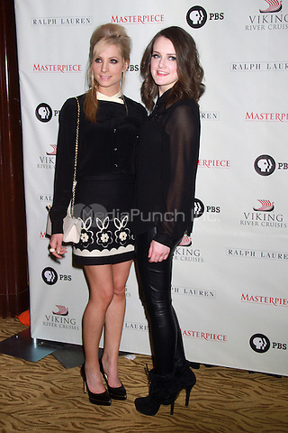 NEW YORK, NY - DECEMBER 12: Joanne Froggatt and Sophie McShera at the Downton Abbey Photo Call promoting it's third season on PBS at the Art Deco Room at Essex House, New York City. December 12, 2012. Credit: RW/MediaPunch Inc.