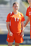 26 October 2008: Clemson's Sarah Jacobs. The Duke University Blue Devils defeated the Clemson University Tigers 6-0 at Koskinen Stadium in Durham, North Carolina in an NCAA Division I Women's college soccer game.