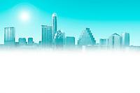 Austin, Texas Skyline faded for ad copy text
