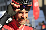 Daniel Oss (ITA) BMC Racing Team all smiles at sign on before the start of Gent-Wevelgem in Flanders Fields 2017, running 249km from Denieze to Wevelgem, Flanders, Belgium. 26th March 2017.<br /> Picture: Eoin Clarke | Cyclefile<br /> <br /> <br /> All photos usage must carry mandatory copyright credit (&copy; Cyclefile | Eoin Clarke)