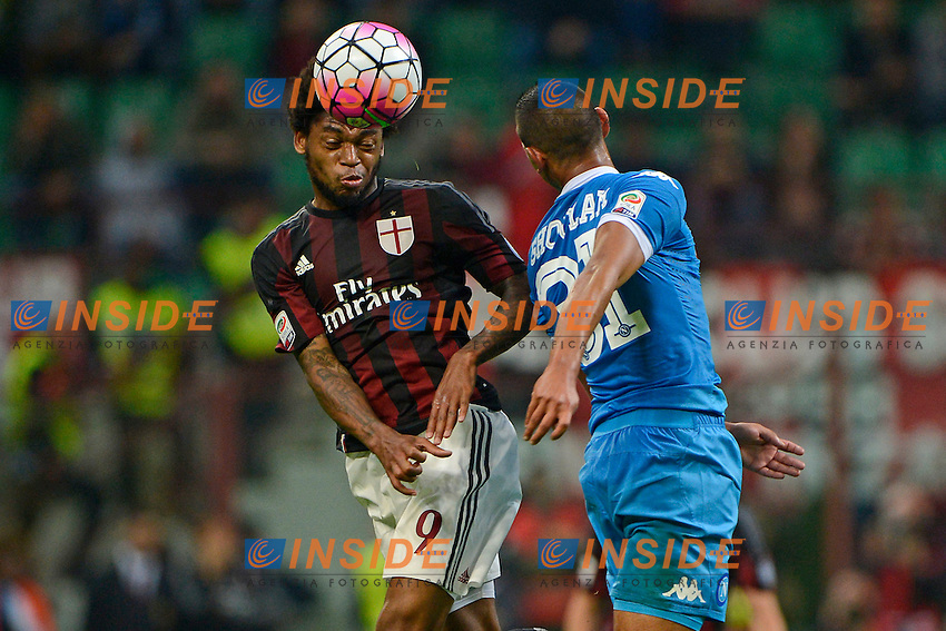 Luiz Adriano Milan, Faouzi Ghoulam Napoli<br /> Milano 4-10-2015 Stadio Giuseppe Meazza - Football Calcio Serie A Milan - Napoli. Foto Giuseppe Celeste / Insidefoto