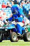 25 September 2005: Billy Buffalo, Mascot of the Buffalo Bills, rides his all-wheel vehicle prior to a game against the Atlanta Falcons. The Falcons defeated the Bills 24-16 at Ralph Wilson Stadium in Orchard Park, NY.<br /><br />Mandatory Photo Credit: Ed Wolfstein.