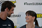 "Olympic medalist Michael Phelps and his sister Hilary attend the ""Official Training Restaurant of the Phelps Family"" and event organized by the food company ""Subway"" in New York, United States. 15/10/2012. Photo by Kena Betancur/VIEWpress."