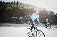 Zhandos Bizhigitov (KAZ/Astana) preparing for the 2017 season on the Coll de Rates (alt 626m/Alicante/Spain) in january