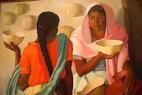 Charla entre huacales (1941) by Valera Lecha (1894-1976), Museo de Arte de El Salvador (MARTE), San Salvador, El Salvador