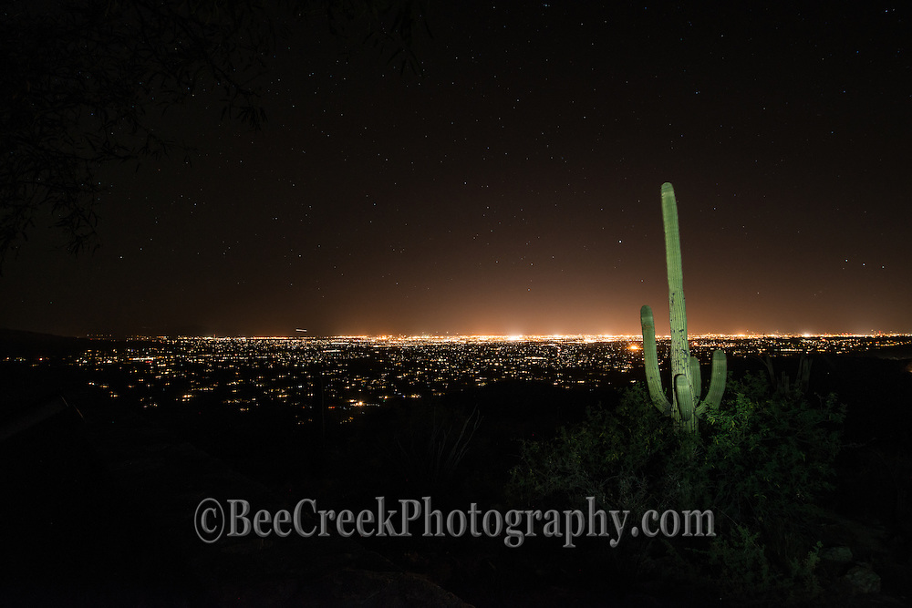 Tucson skyline at night