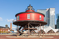 Seven Foot Knoll Light in Baltimore, Maryland.
