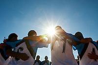 Belo Horizonte_MG, Brasil...1a Copa Kaiser de Futebol Amador de Belo Horizonte. Na foto partida entre Gremio (azul) x Verona (vermelho)...1st Kaiser Cup of Amateur Football in Belo Horizonte. The match was between Gremio (blue) x Verona (red)...Foto: NIDIN SANCHES / NITRO