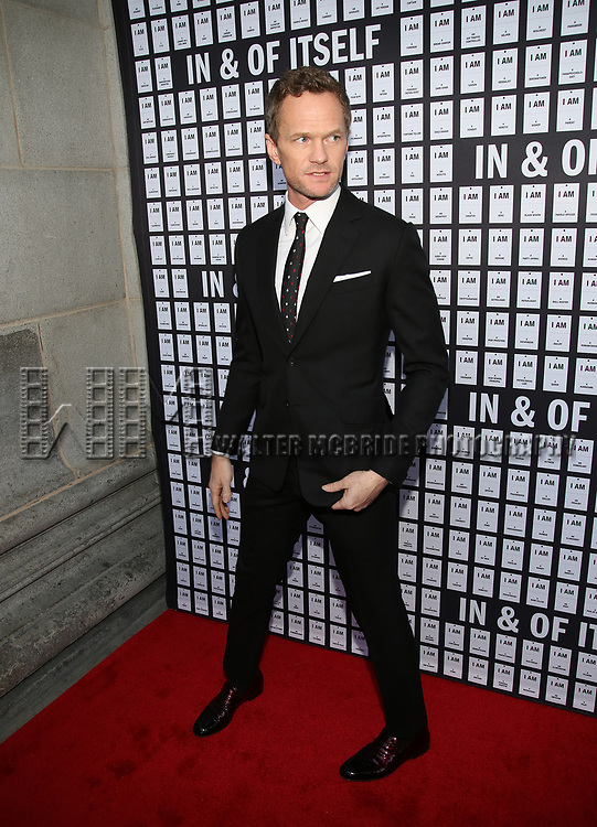 Neil Patrick Harris attends the Opening Night 'In & Of Itself' at the Daryl Roth Theatre on April 12, 2017 in New York City