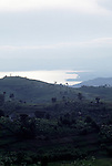Lake Kivu, a volcanic lake on the Rwandan border with the Central Democratic Republic of Congo (CAR)