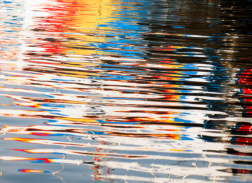 """""""Watercolors"""" reflections on water"""