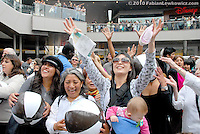 Thousands of people pack in to Santa Monica Place during their Grand Opening Celebration  on Friday, August 6, 2010.