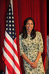 Rosario Dawson playing the part of Dolores Huerta on the set of the fim Chavez at the Civic Auditorium in Hermosillo, Mexico. June 4, 2012. © Triador Cuarto/NortePhoto/MediaPunch Inc. ***NO MEXICO**NO SPAIN**