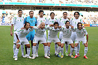 Iraq Starting Eleven. Spain defeated Iraq 1-0 during the FIFA Confederations Cup at Free State Stadium, in Mangaung/Bloemfontein South Africa on June 17, 2009.