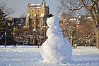 Jan. 22, 2013; Snowman on South Quad...Photo by Matt Cashore/University of Notre Dame