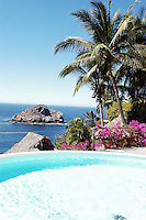 """Casa Parasol"", like many of the Villas in Careyes, has a pool right on the edge of the cliff overlooking the Pacific Ocean."