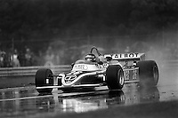 MONTREAL, CANADA - SEPTEMBER 27: Jacques Laffite drives his Ligier JS17 05/Matra MS81 to a victory in the 1981 Canadian Grand Prix FIA Formula One World Championship race at the Circuit Île Notre-Dame temporary circuit in Montreal, Canada, on September 27, 1981.