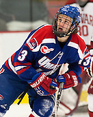 Adam Chapie (UML - 13) - The visiting University of Massachusetts Lowell River Hawks defeated the Harvard University Crimson 5-0 on Monday, December 10, 2012, at Bright Hockey Center in Cambridge, Massachusetts.