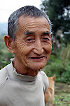 Asia, China, Yichang. Rural Farmer.