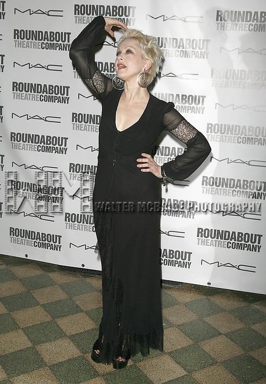 Cyndi Lauper attending the Opening Night after party for the Roundabout Theatre Company's Broadway production of THE THREEPENNY OPERA at Studio 54 in New York City.. April 20, 2006. © Walter McBride/WM Photography
