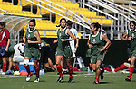 Mexico players jog around the field on Saturday, October 22nd, 2005 at Blackbaud Stadium in Charleston, South Carolina. The Mexico Women's National Team went through a light practice the day before a game against United States.